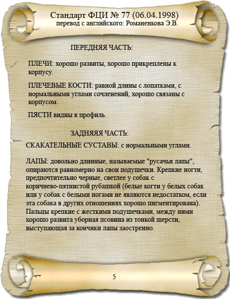 стандарт породы ФЦИ папийон